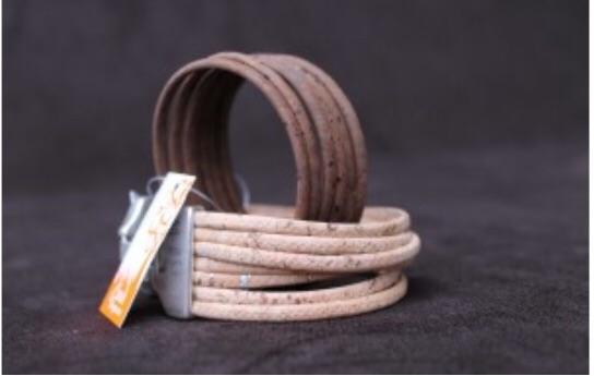 Beautiful handmade cork bracelets