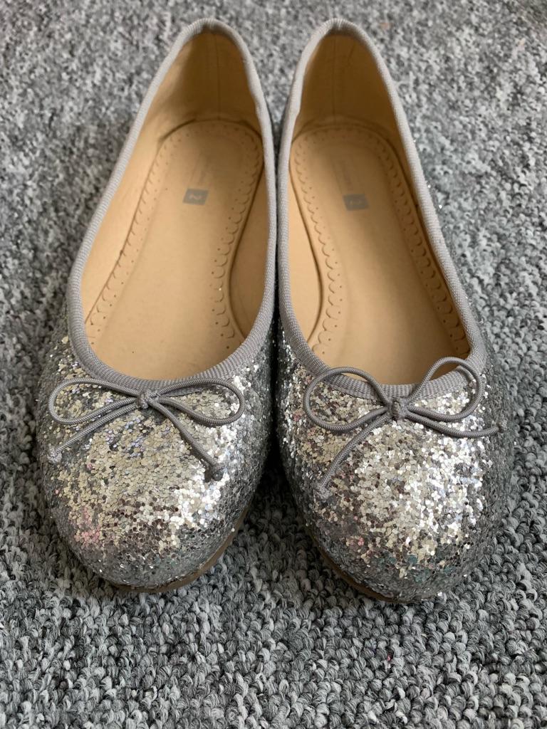 Silver John Lewis shoes size 2