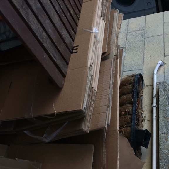 Cardboard boxes from house move
