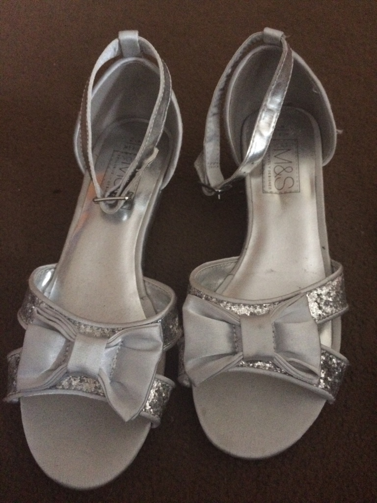 Silver sandals size 2