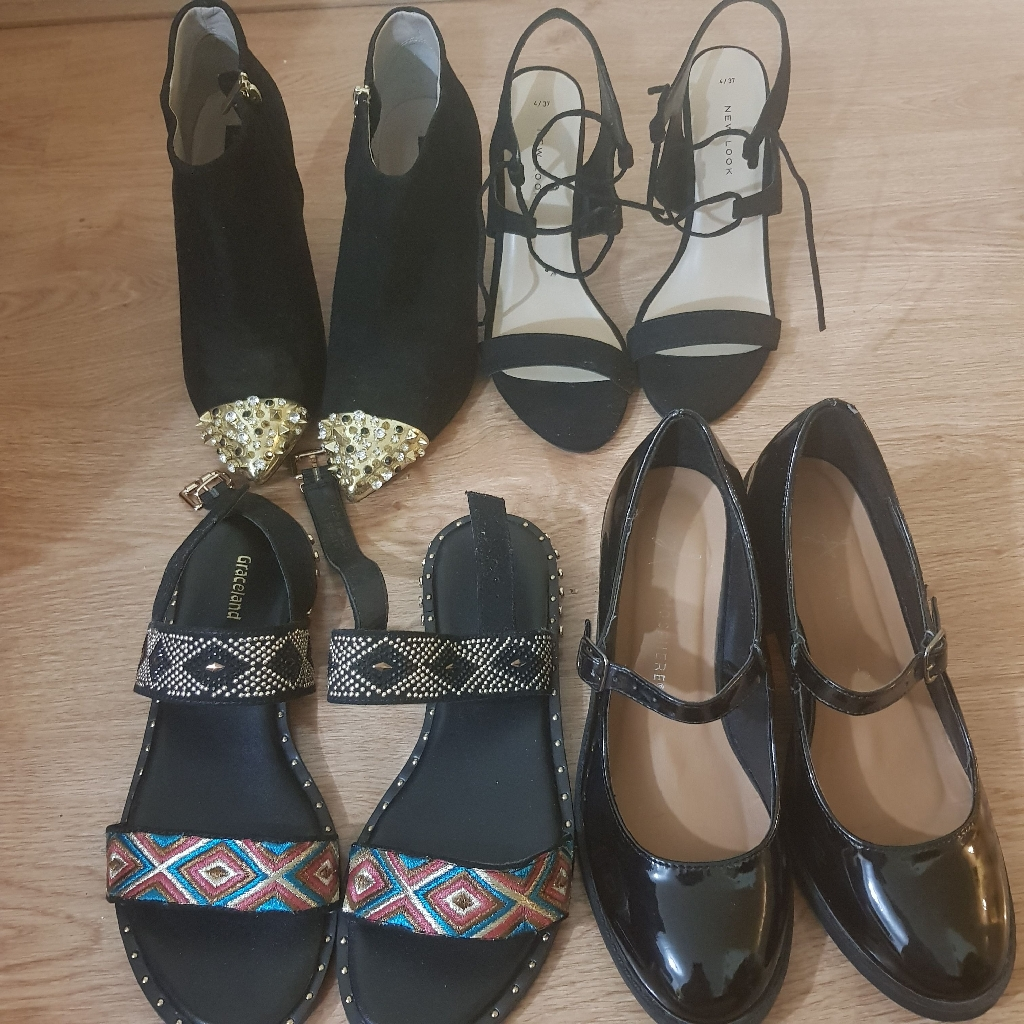 Size 4 heels and sandals