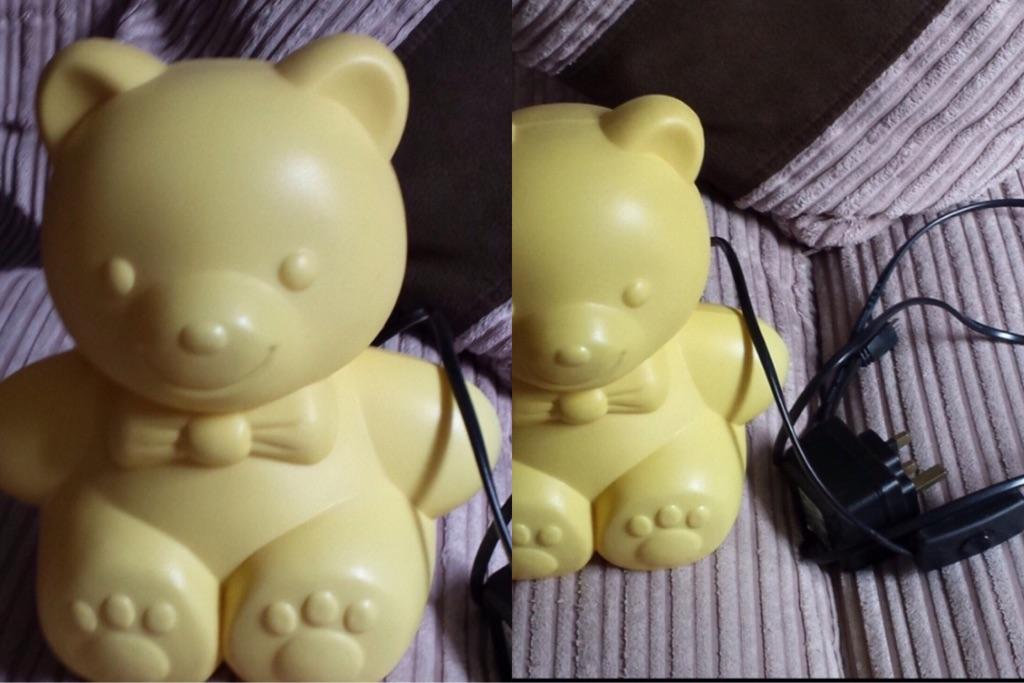Yellow Teddy Bear Night Light