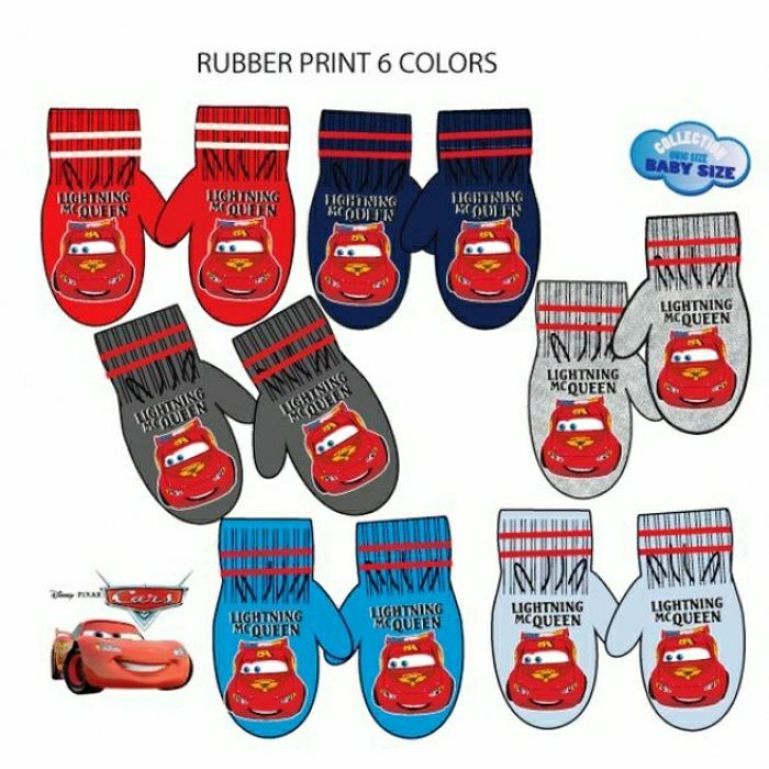 Baby boys cars mittens