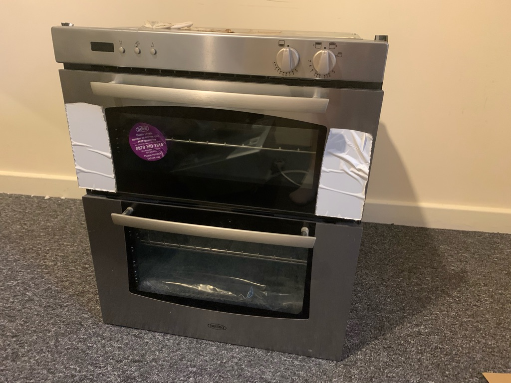 Belling stainless steel double gas oven