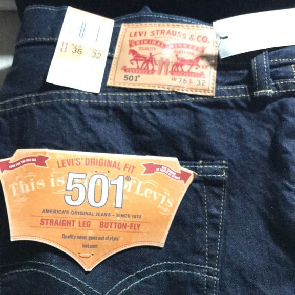 Levi's Strauss & co straight leg button fly new