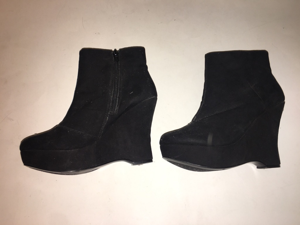 Express Faux Suede bootie
