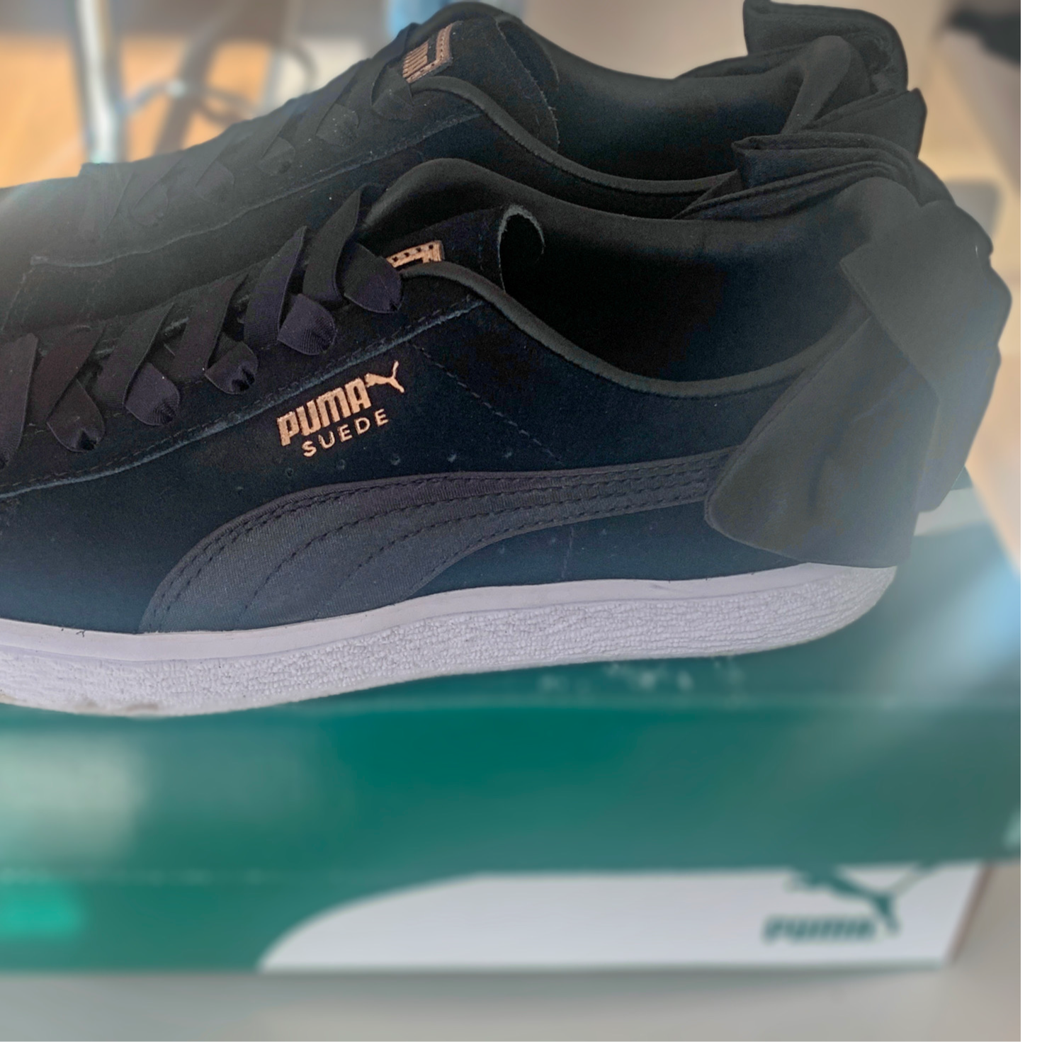 Puma Trainers - With Bow - Black - 4UK - Women