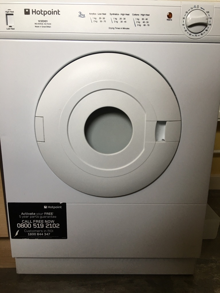Hot point small tumble drier