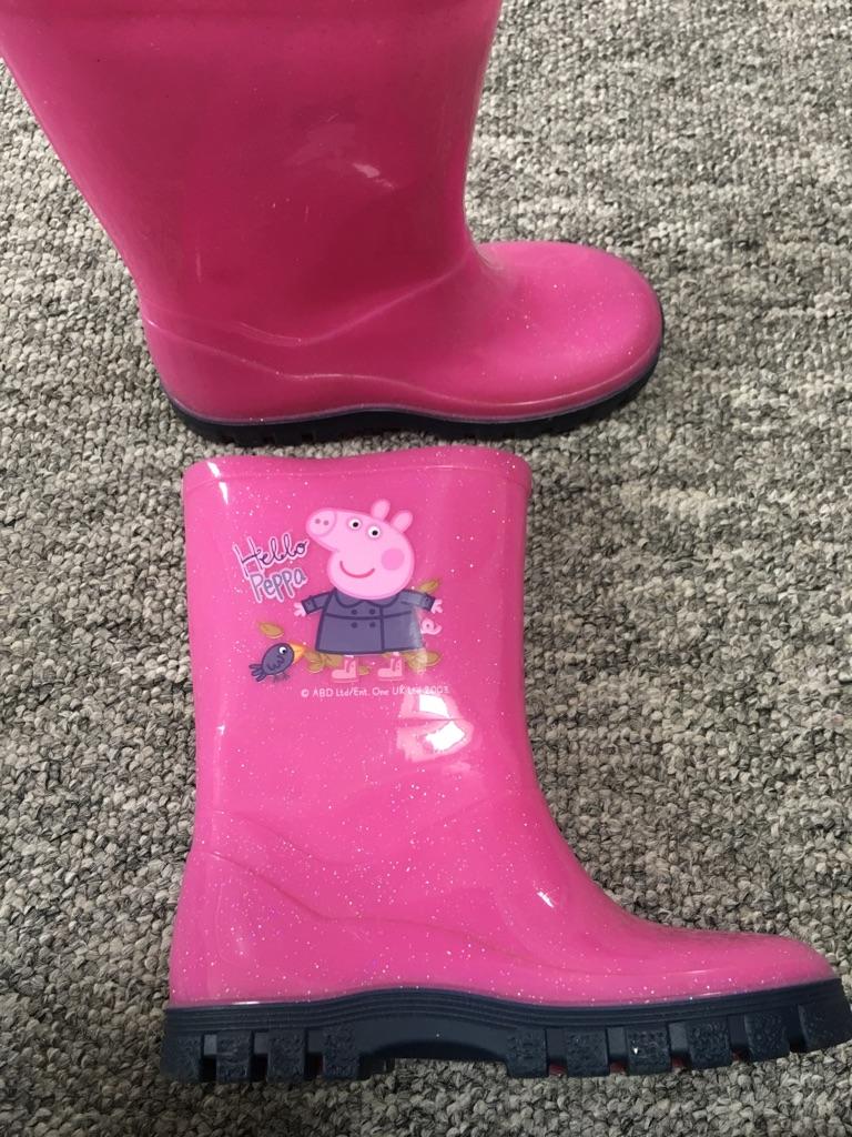 Peppa pig wellies size 9uk