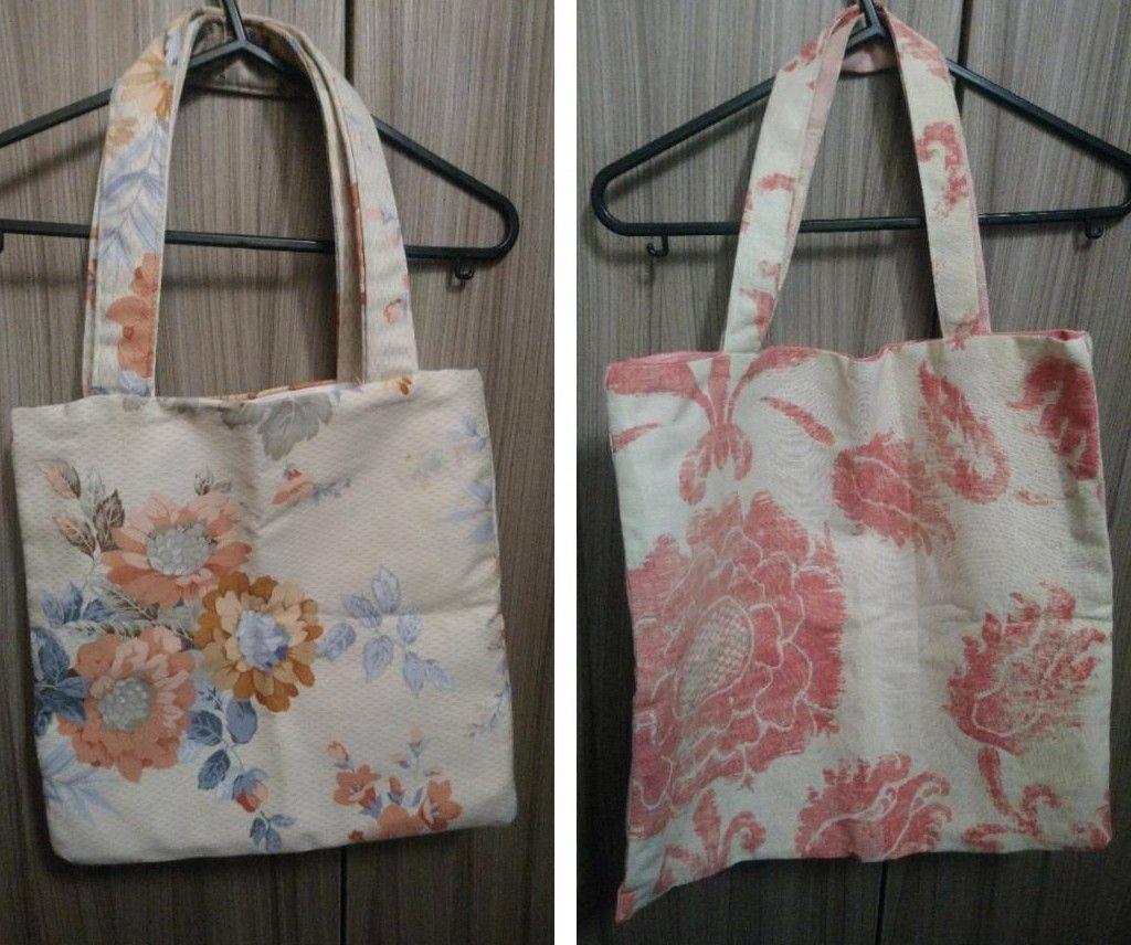 Handmade sturdy fabric shopping bags