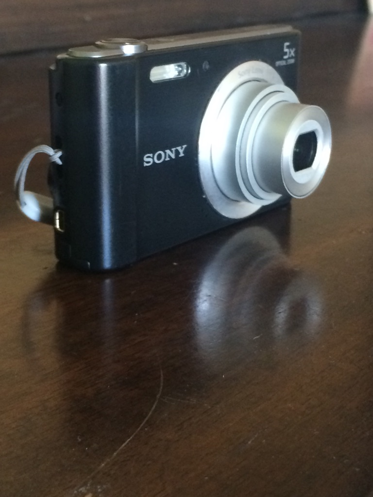 Black Sony point-and-shoot camera