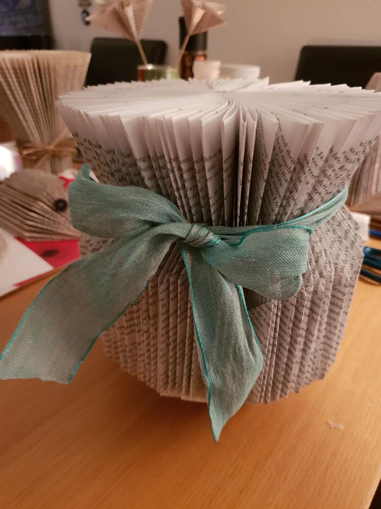Beautiful large book folded vase