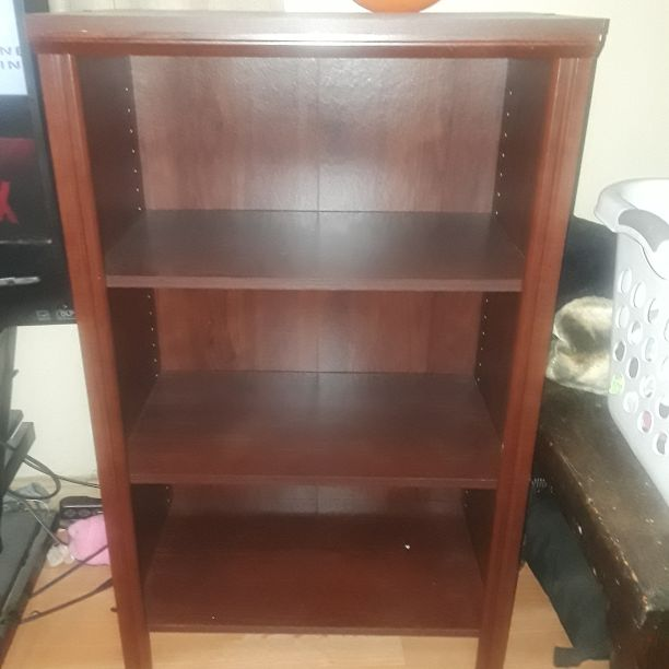 Brown 3 Shelf Bookcase