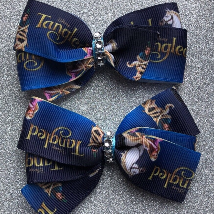 Disney Tangled hair ribbon bows