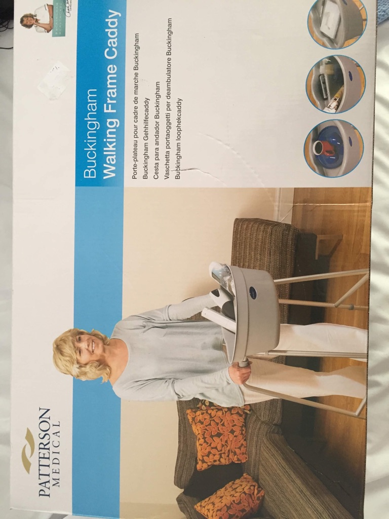 Caddy for a Zimmer frame