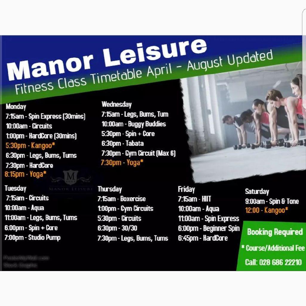 Manor leisure membership