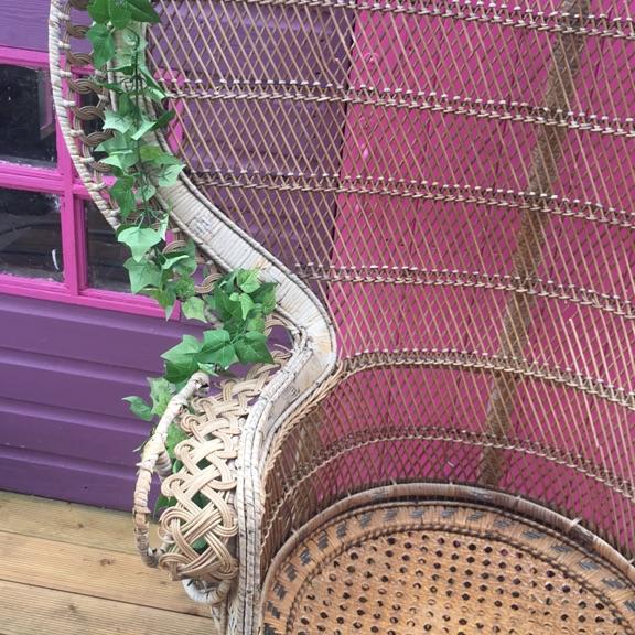 Peacock chair / wedding / garden/ prop/ photography