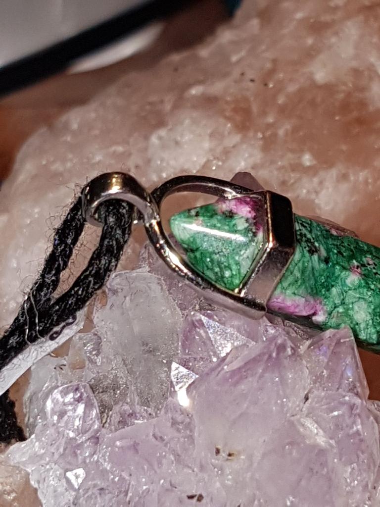 Beautiful Ruby fuchsite healing Crystal pendant
