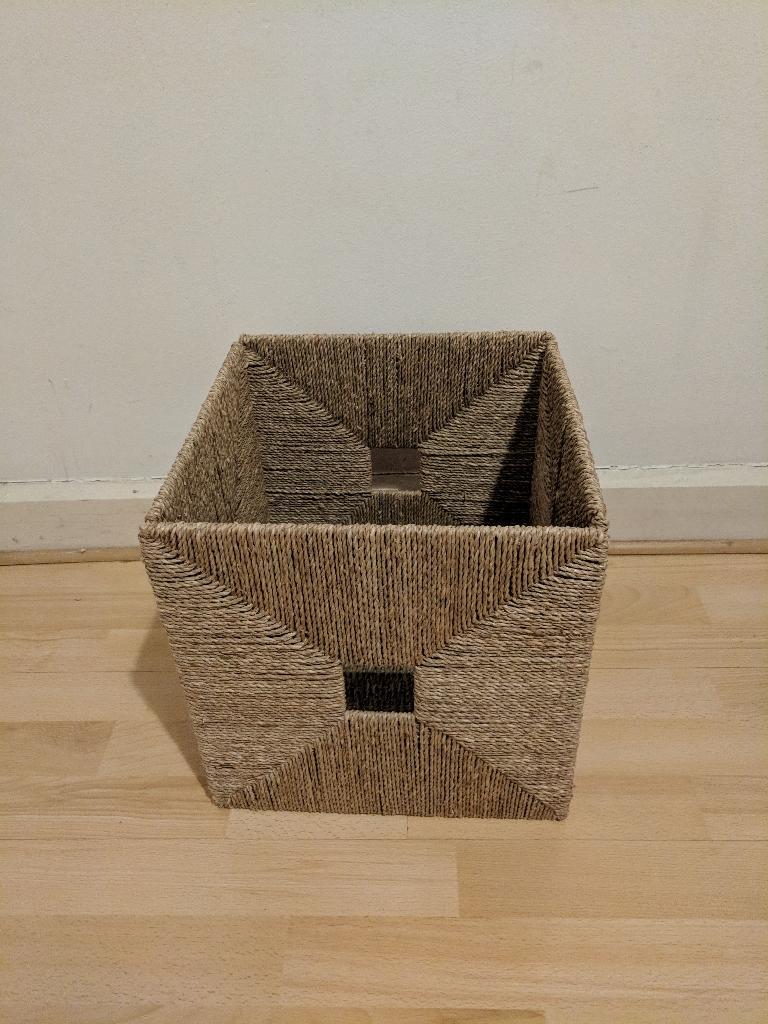 Storage bundle: Ikea Knipsa Wicker basker, Ikea Bumerang hangers, fabric bins, shoe organiser