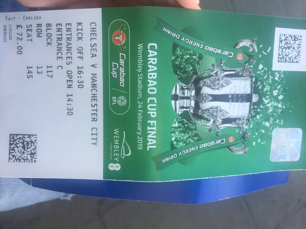 Chelsea v Manchester City tickets