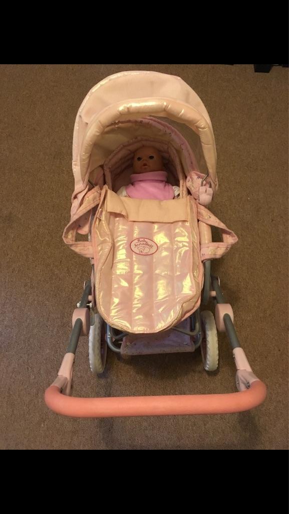 Baby Annabel pram and accessories