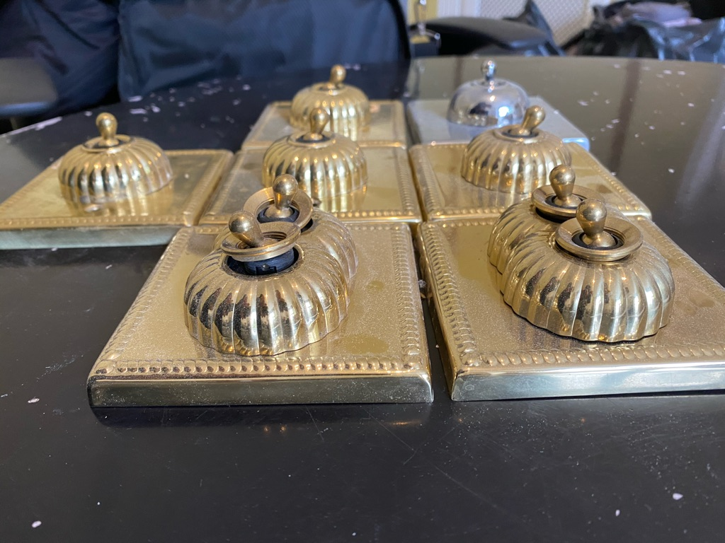 Brass light switch covers