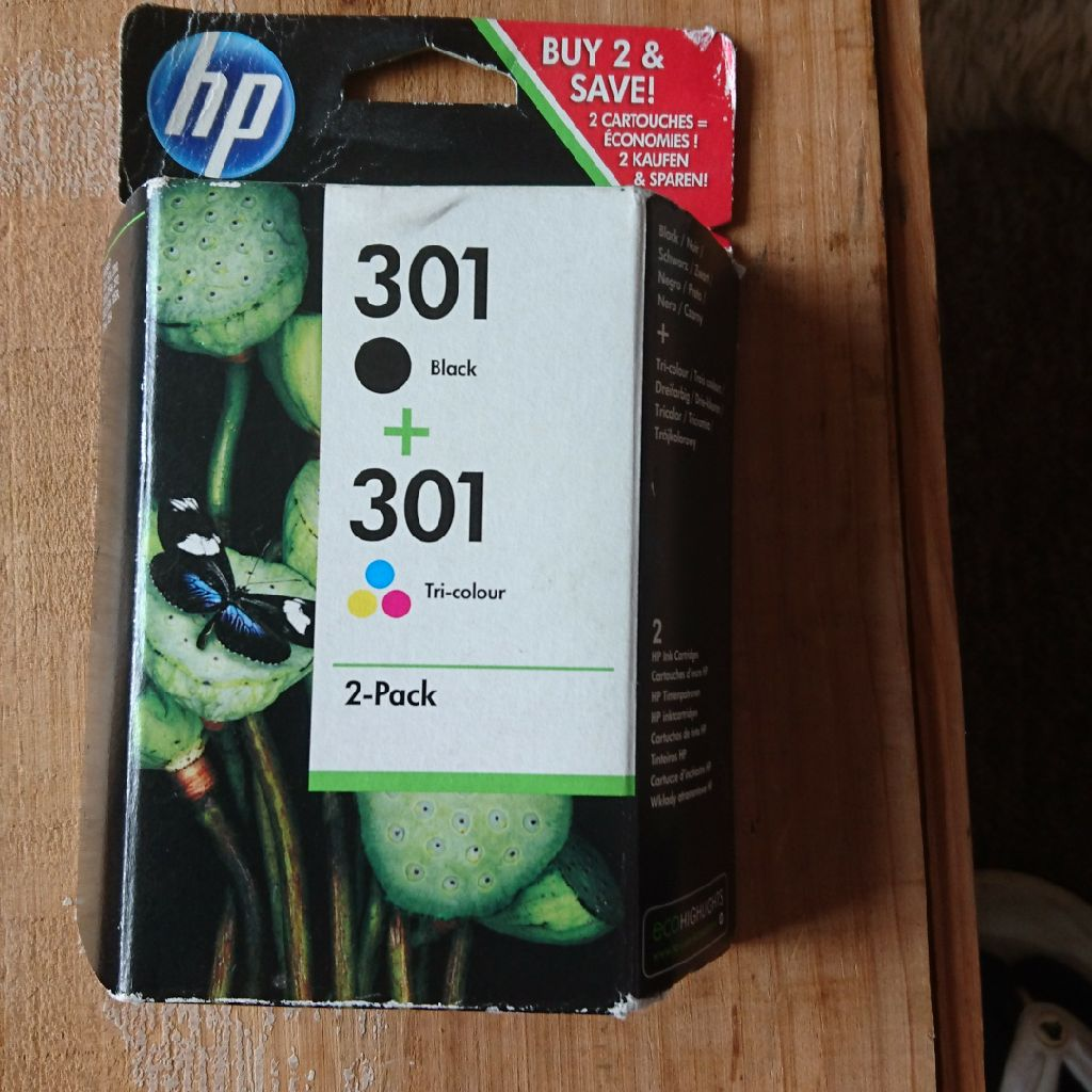 HP 301 Combi Pack new and unopened