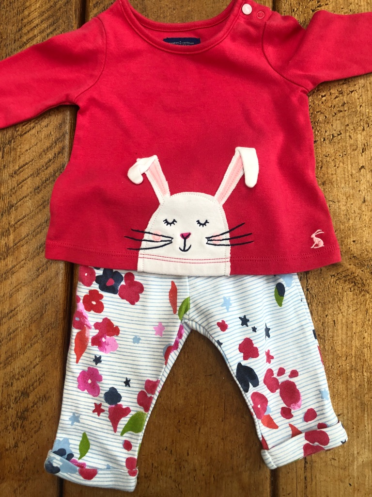 Baby Joules top and Leggings 0 to 3 months