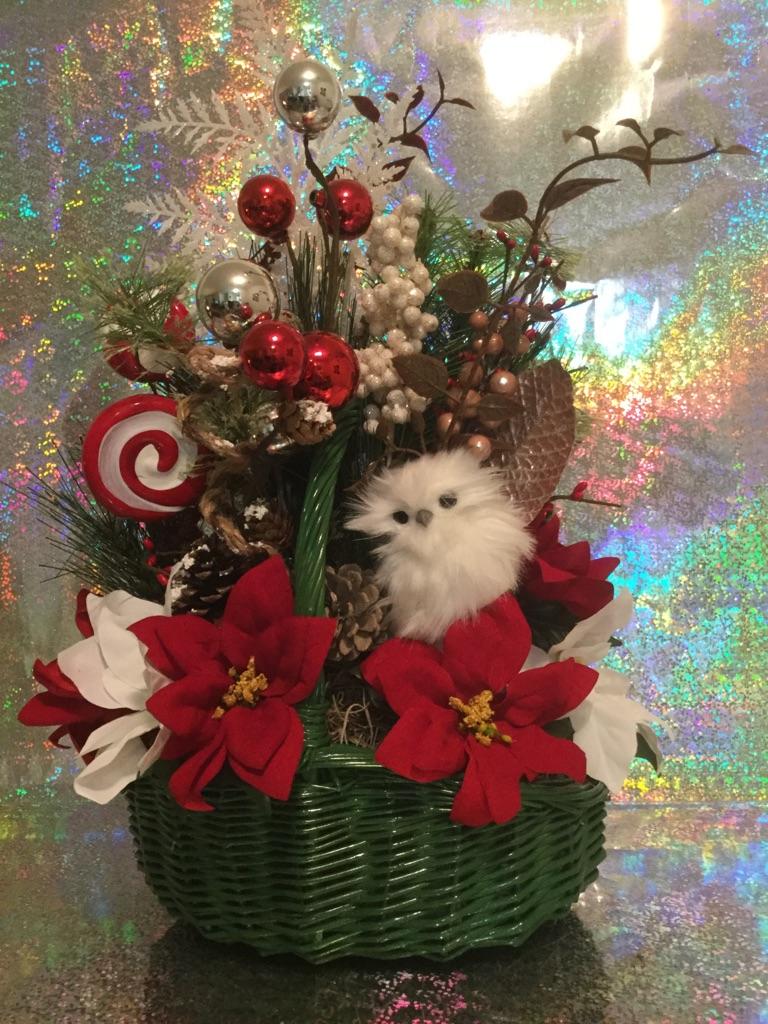 Green Christmas Basket