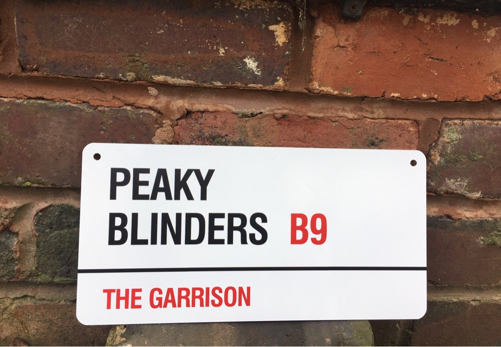 Peaky Blinders metal sign