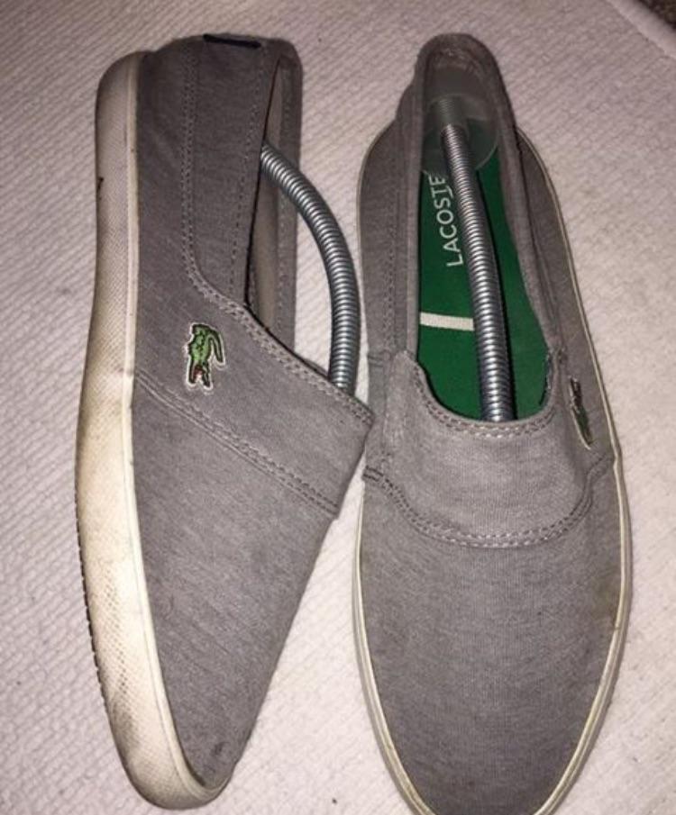 Size 8 Lacoste canvas shoes