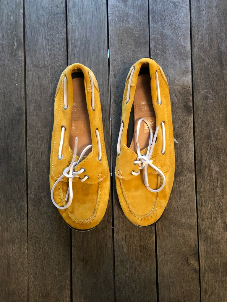 Gaastra Size 37/uk 4 mustard yellow Deck shoes