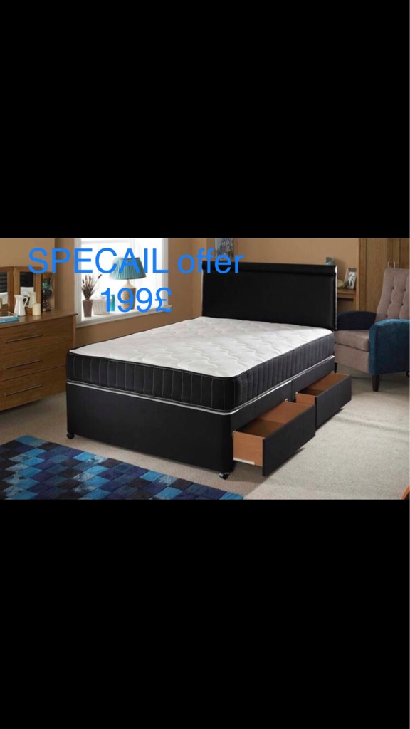🇻🇬BRAND NEW OFFER DOUBLE And kingsize Divan  bed with Optional matrasses🇻🇬