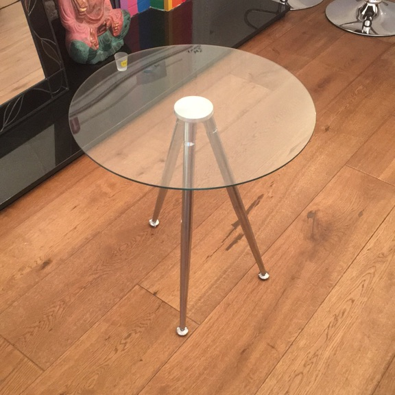 Simple glass side table