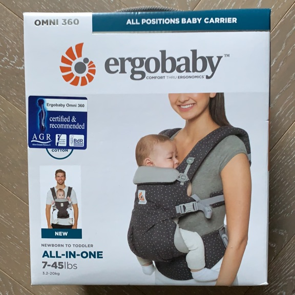 Ergobaby carrier Omni 360. New. Starry night grey