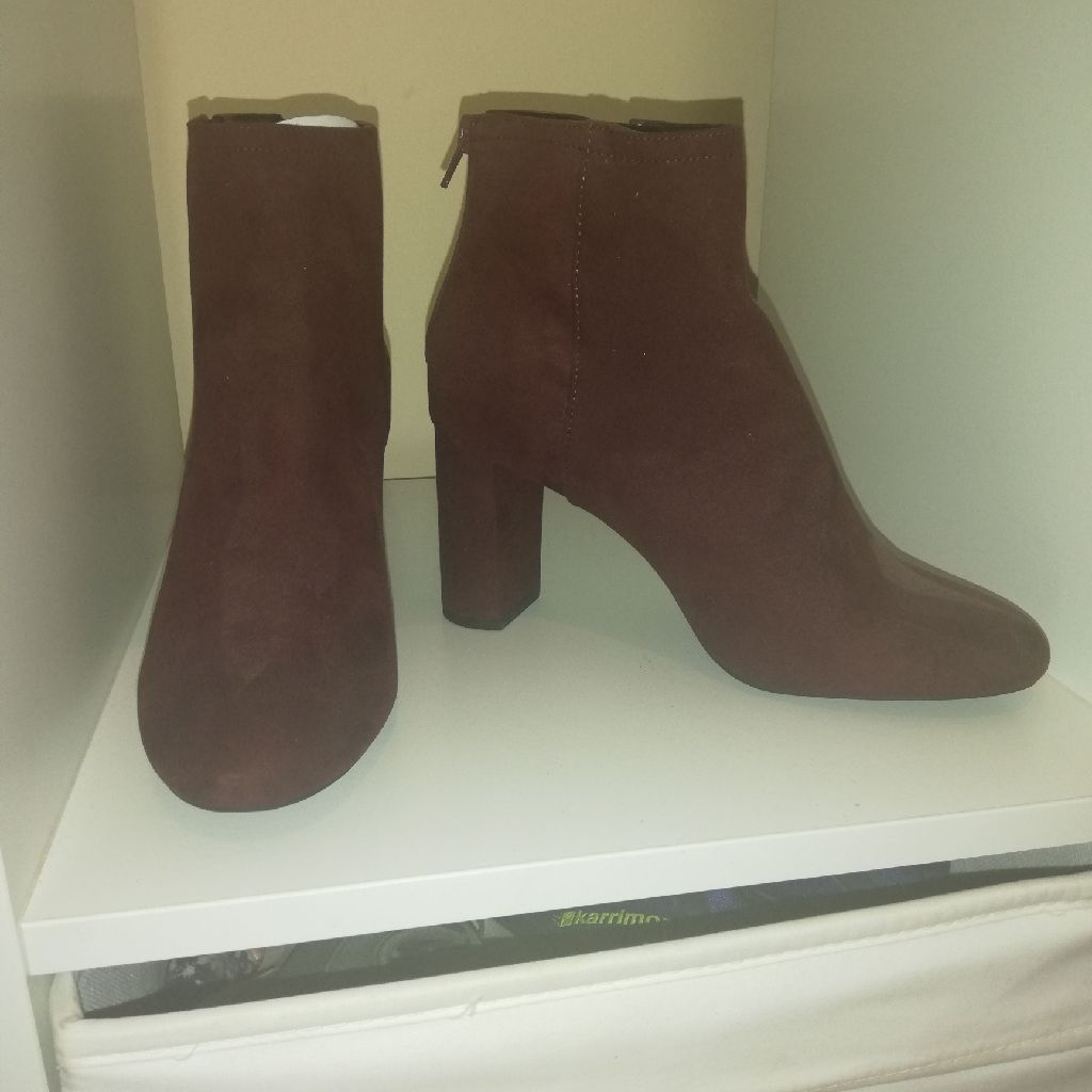 Burgundy boots new look size 6