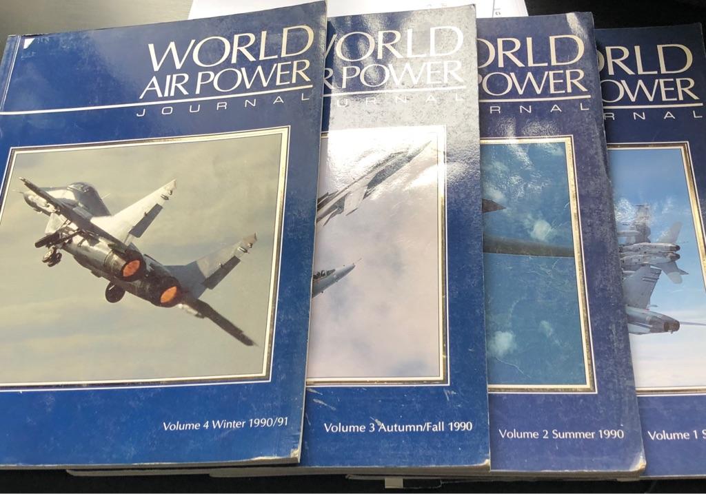 SET OF FOUR WORLD AIR POWER JOURNALS