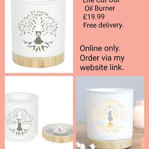 💥White Tree of Life Cut Out Oil Burner 💥£19.99 🚚free delivery.