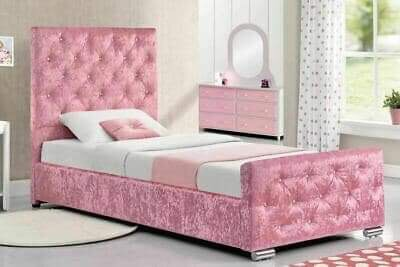 💗💗Girls Princess Crushed Velvet Bed 💗💗