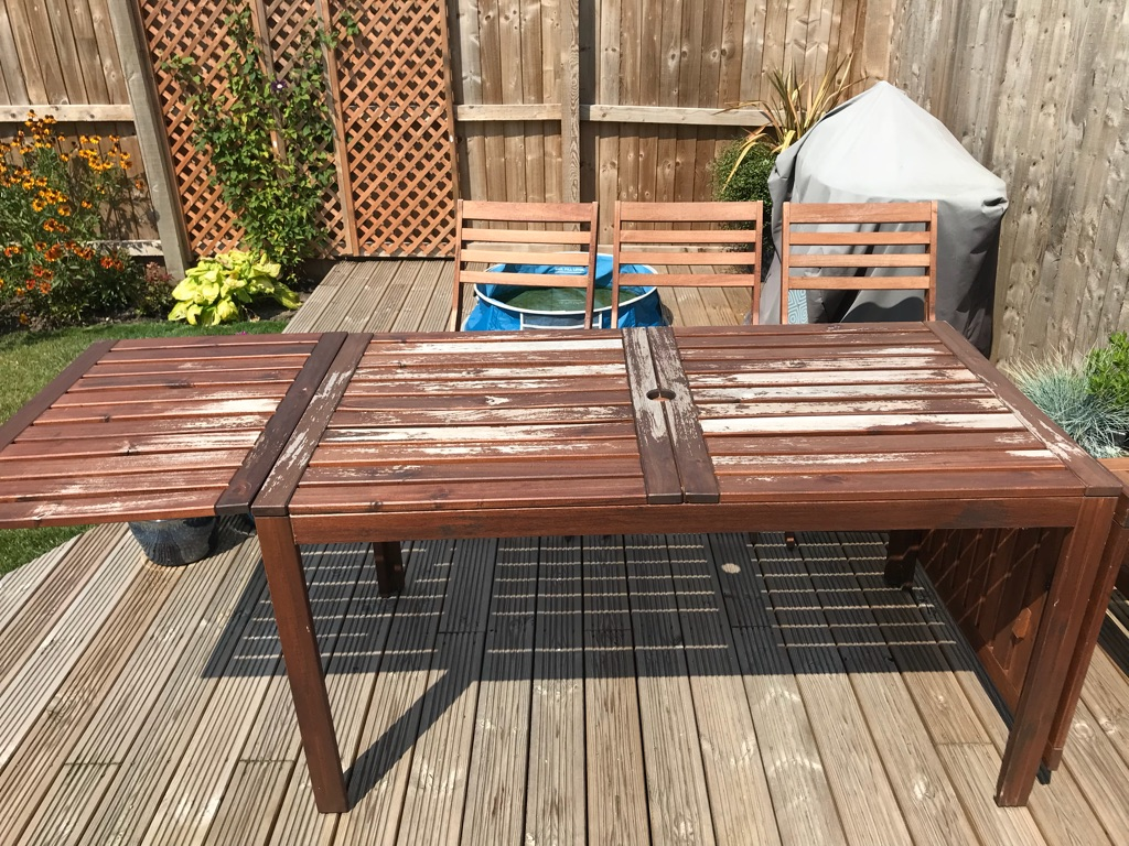 Extendable table and chairs from ikea