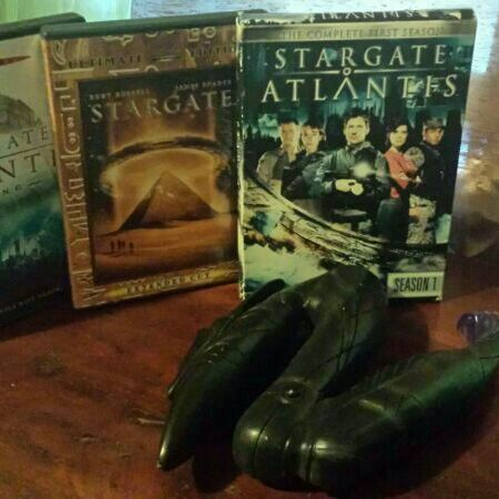 Stargate gun and dvd lot