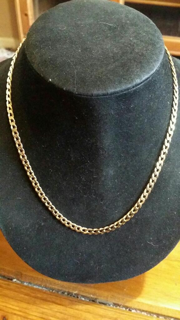 """9ct gold 18"""" Curb chain"""