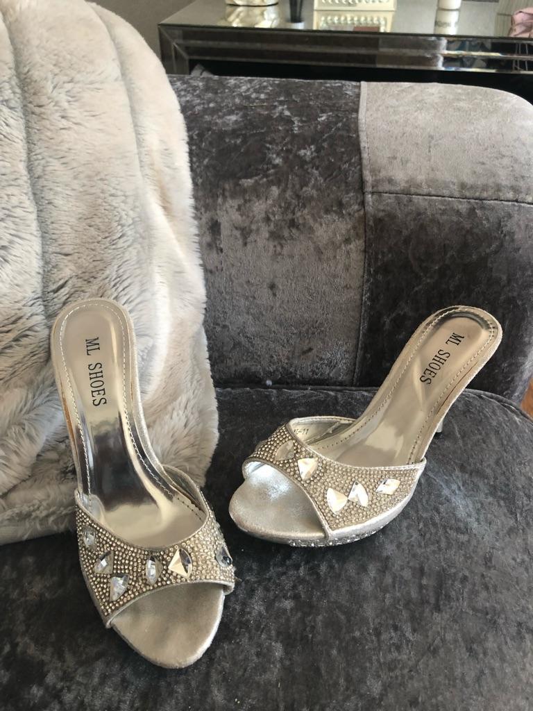 Women's silver ML shoes size 5