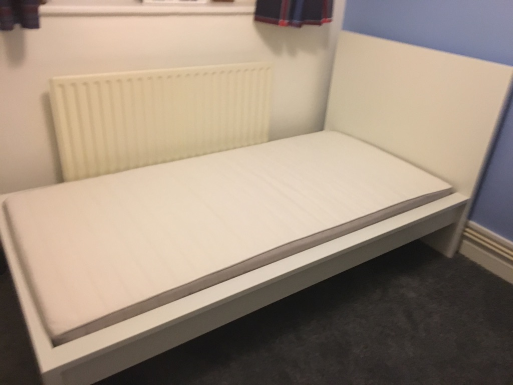 Single IKEA bed with mattress