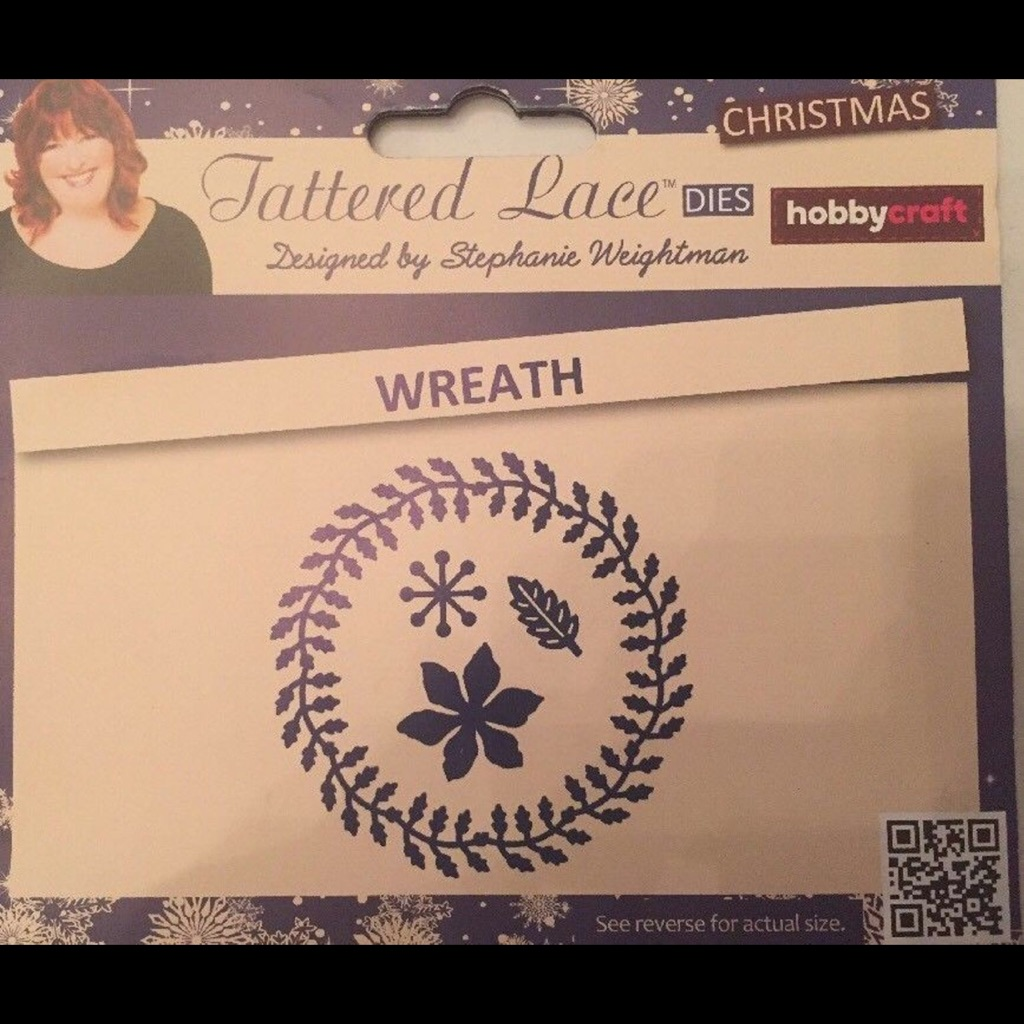 Tattered lace Christmas craft die