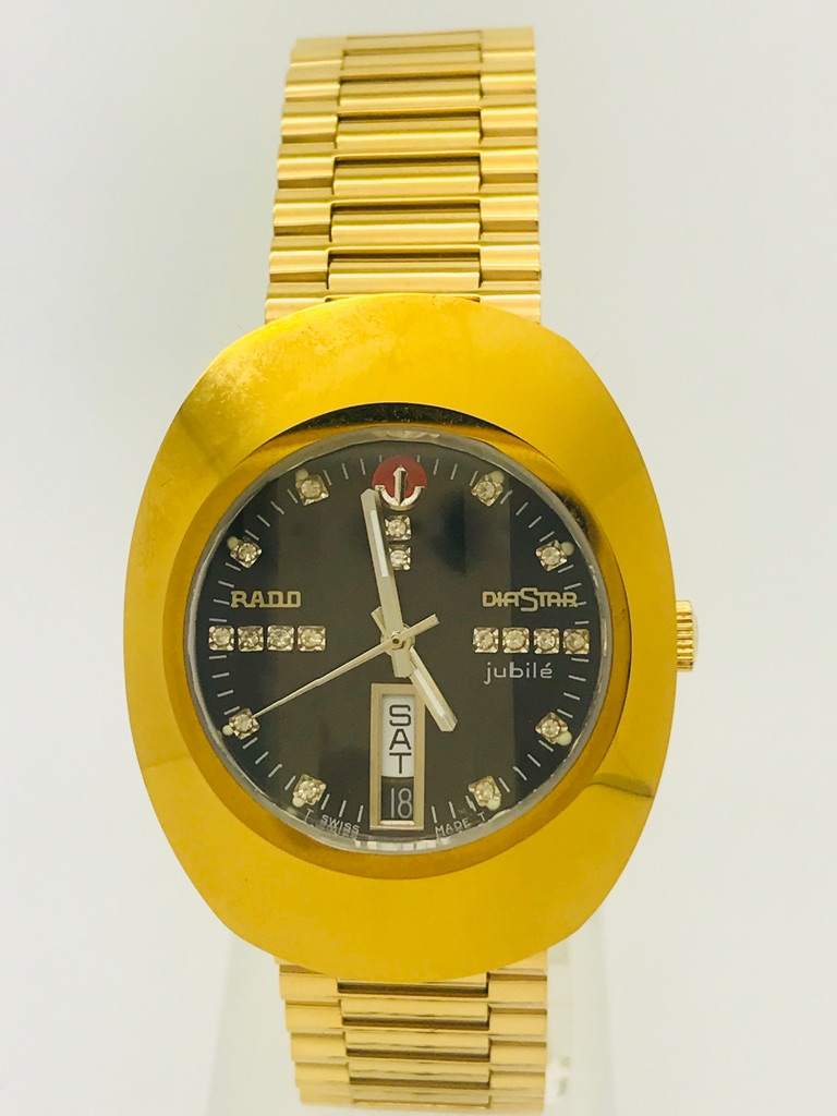 Used Rado Diastar Gold Dial Automatic Scratch Proof 25 Jewels Men's Watch