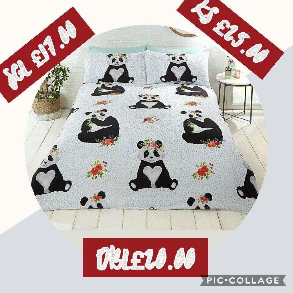Panda duvet set