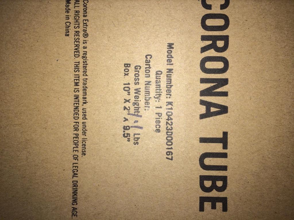 Corona tube floatie for ADULTS