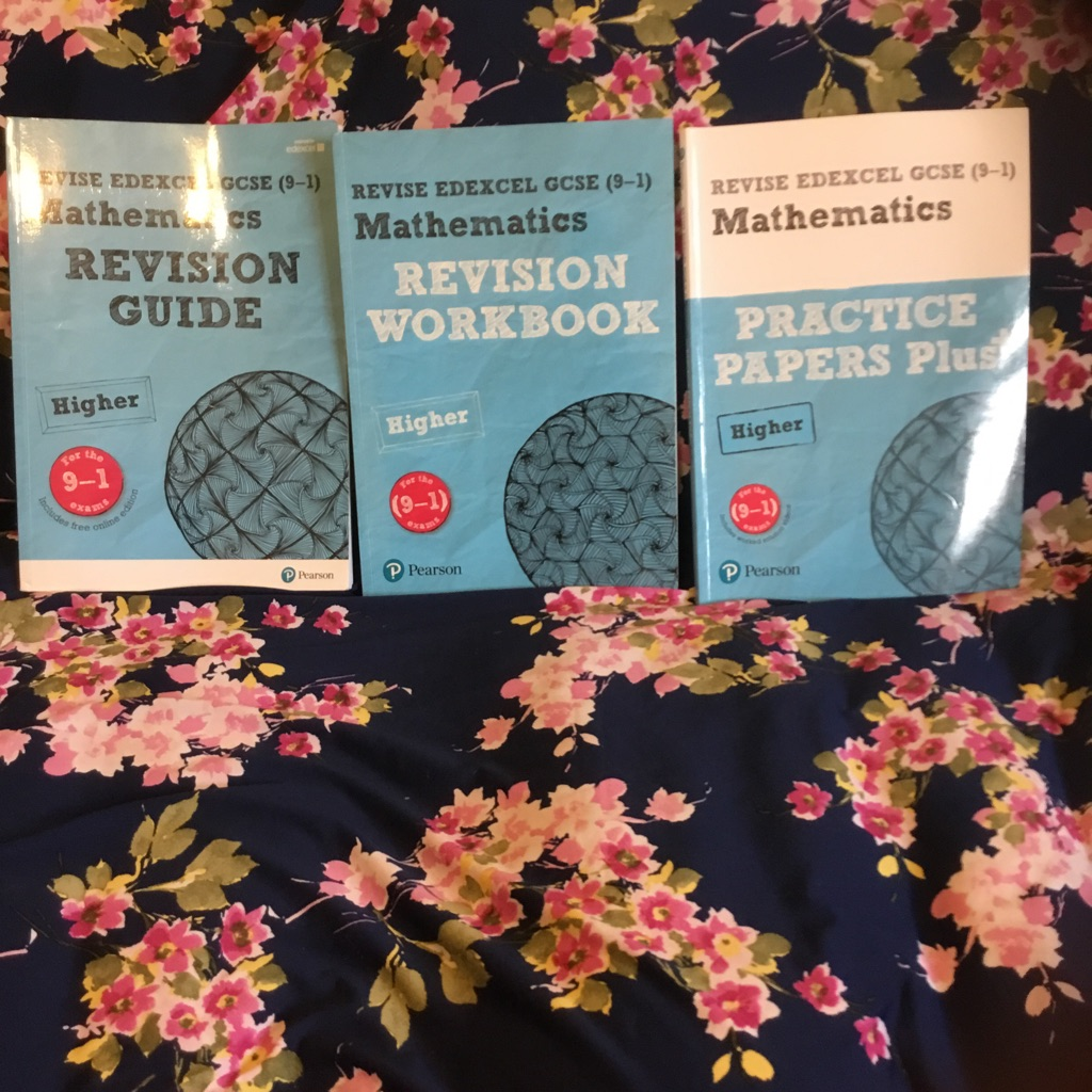 GCSE Edexcel maths (Higher) revision guide, workbook and practice papers plus