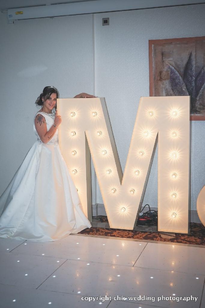 Mark Lesley wedding dress and veil